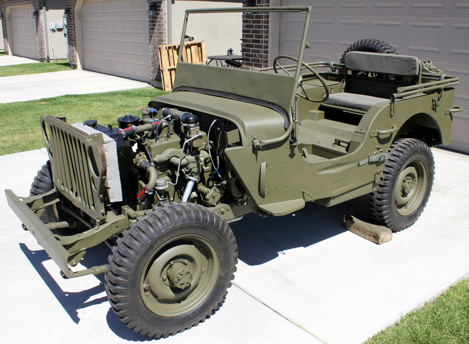 1943 willys mb jeep restoration project june 2013. Black Bedroom Furniture Sets. Home Design Ideas