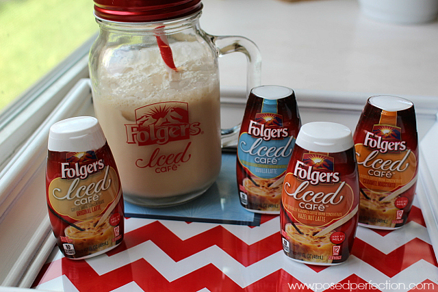Folgers Iced Cafe's many flavors are the perfect summer afternoon pick-me-up!