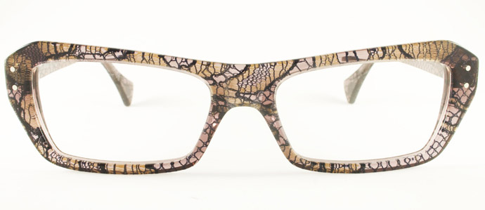 Rock Optika eyewear collection: Barcelona glasses in French lace