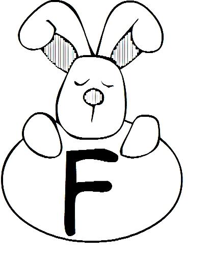 a desenhar letras do alfabeto letra F colorir