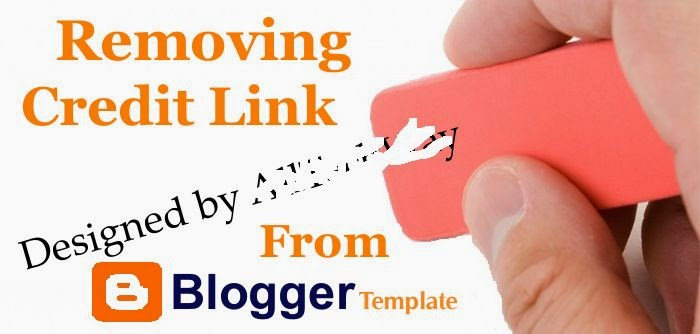 How to Remove Footer Credit Link Blogger