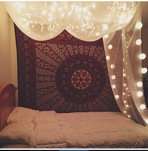 Marvelous I Also Love The Idea Of Hanging Lights And Pretty Fabric Over Your Bed!  This Would Make It Seem So Much More Cozy And Home Y. Part 17