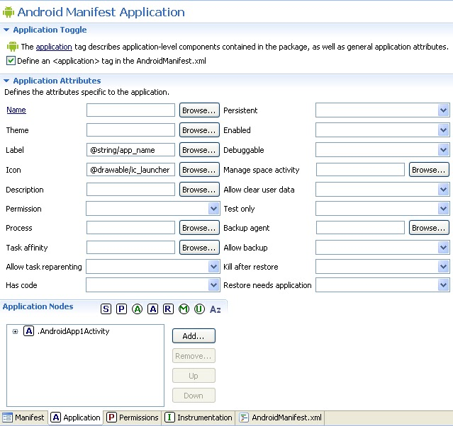 Android_Manifest_Application
