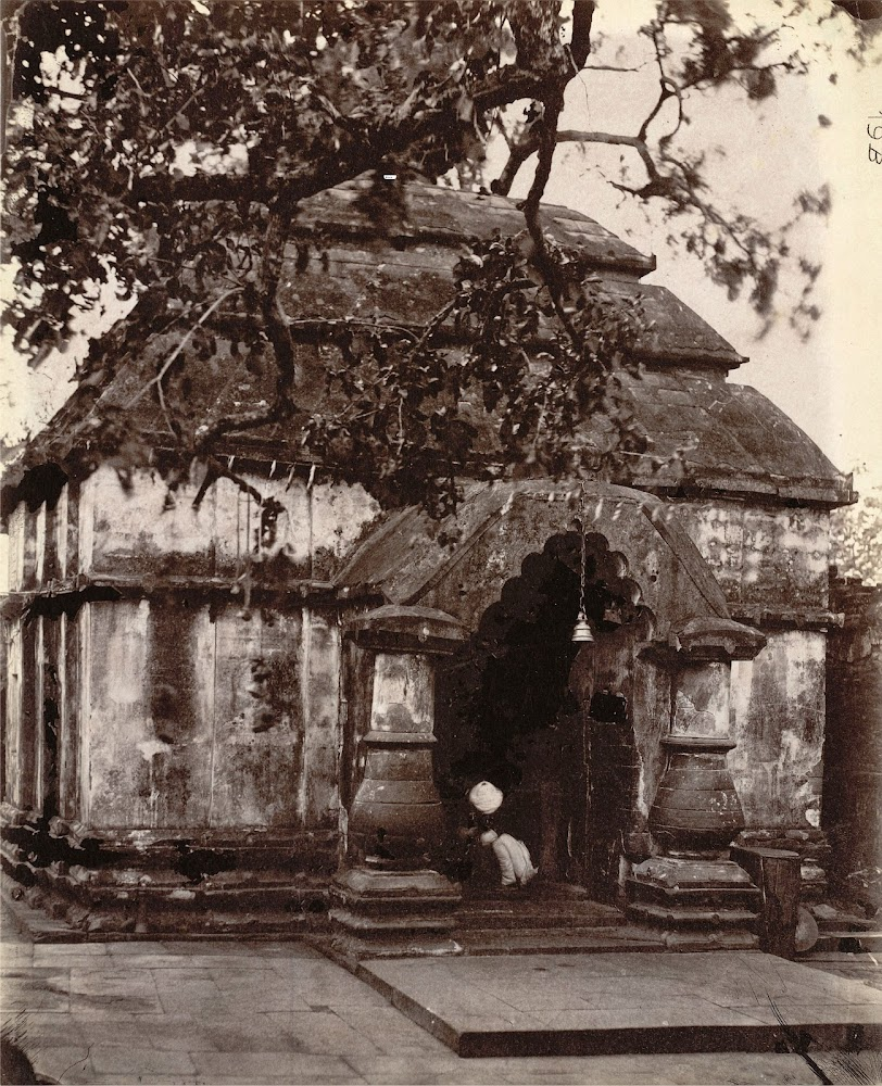 A Large Temple at Kalyanesvari (Kalyaneshwari) Burdwan district, Bengal - 1872