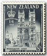 Westminster Abbey8d Crown and Royal Sceptre1s 6d Queen Elizabeth ...