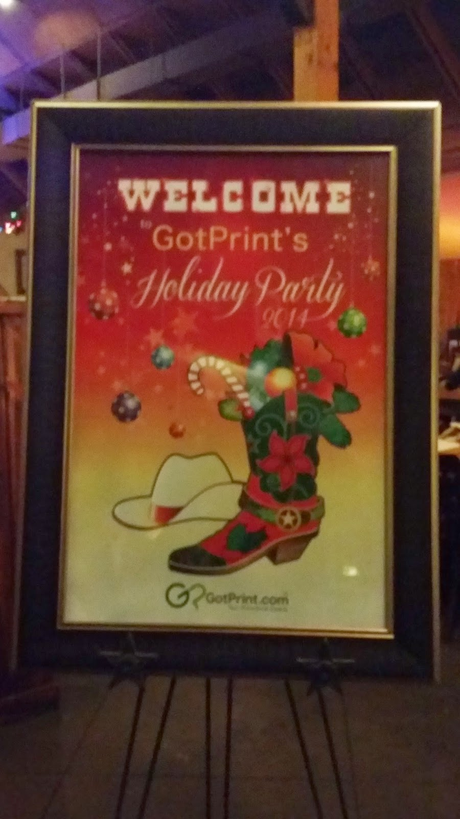 GotPrint Texas holiday party banner