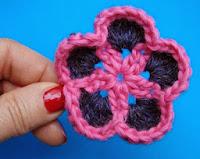 вязание крючком, уроки по вязанию, видео, цветы,