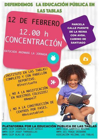 12 de febrero Concentración  Enseñanza Pública y de Calidad