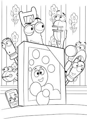 Desenho de Manny mãos a obra para colorir