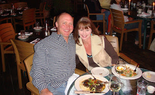 Jason Matthews and Jana Matthews at Cottonwood restaurant Truckee CA