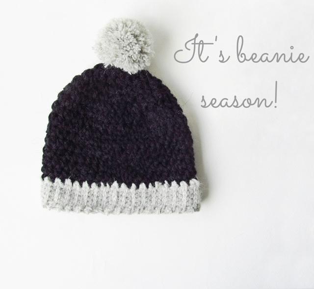 Crochet Big Pom Beanie - Little Things Blogged