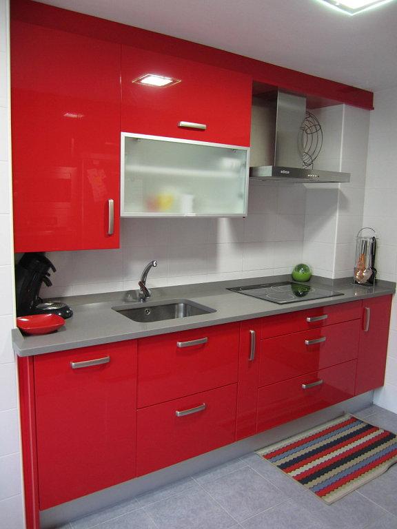 Muebles byc fotos cocinas - Cocinas color rojo ...