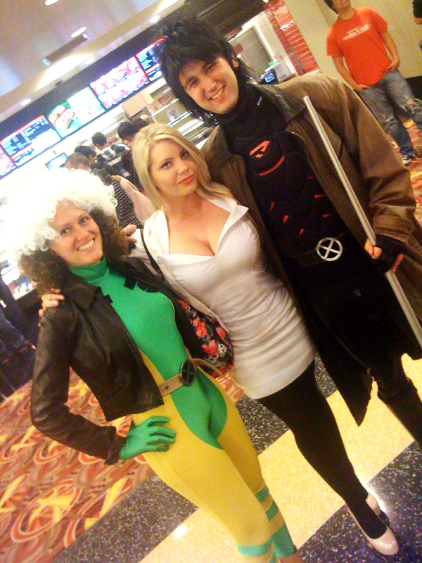 A couple in Cosplay and I (not fully in cosplay) at the midnight showing of X MEN FIRST CLASS  sc 1 st  Girl With The Creature Tattoo & Girl With The Creature Tattoo: Costume Play u003d COSPLAY!