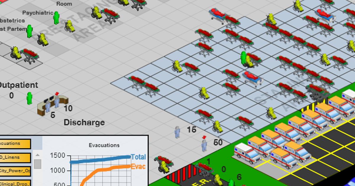 Simulation & Emerging Processes; A Hospital Evacuation Case Study