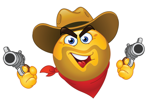 Wild west smiley