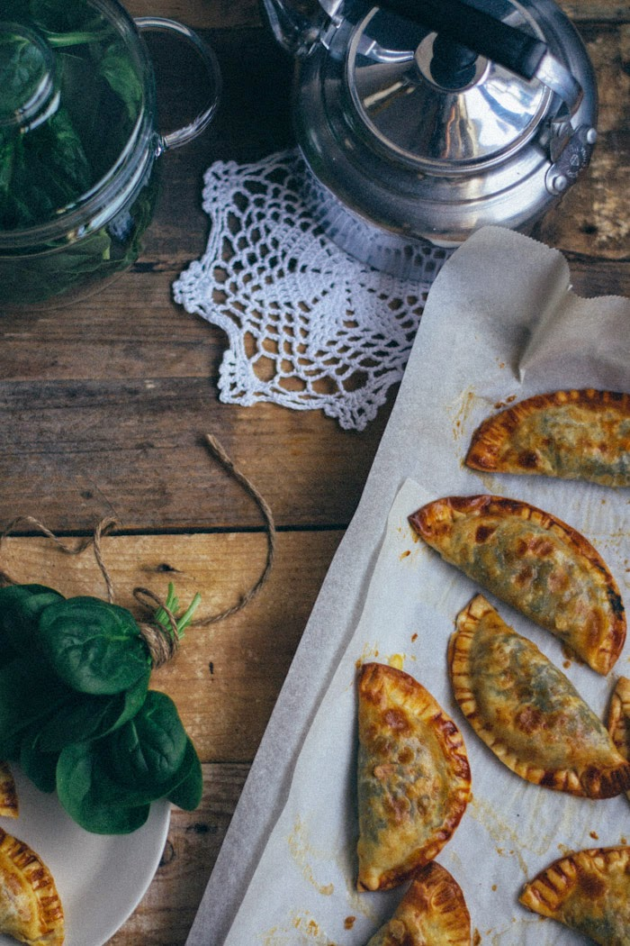 Empanadillas de espinacas y queso