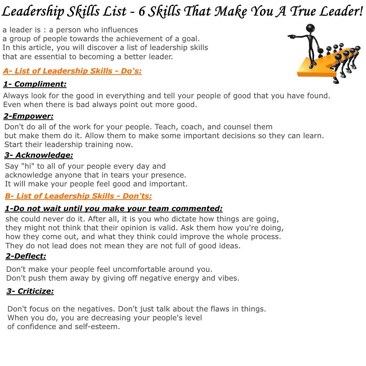 list some skills