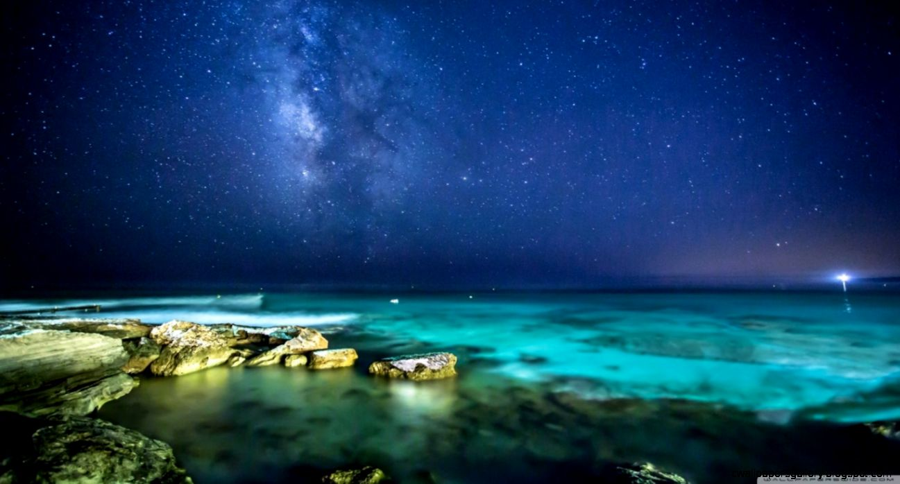 Ocean Night Sky HD desktop wallpaper  High Definition  Fullscreen