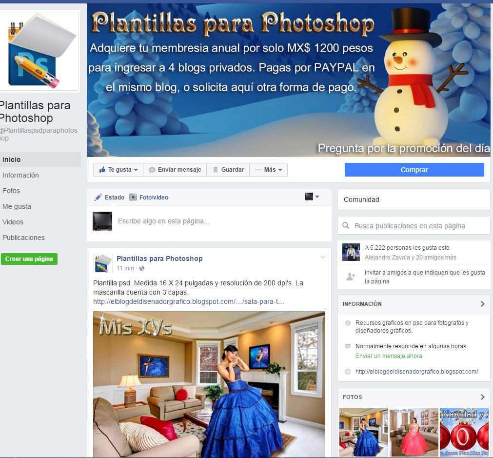 únete a nuestro facebook para otras formas de pago