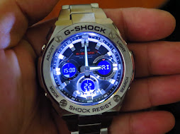 CASIO G-SHOCK GST-S110D-1ADR- ANALOG DIGITAL - LNIB