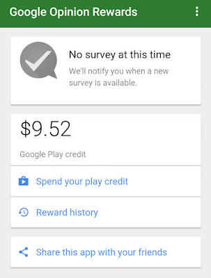 Earn Free Google Play Credits with the Google Opinion Rewards App