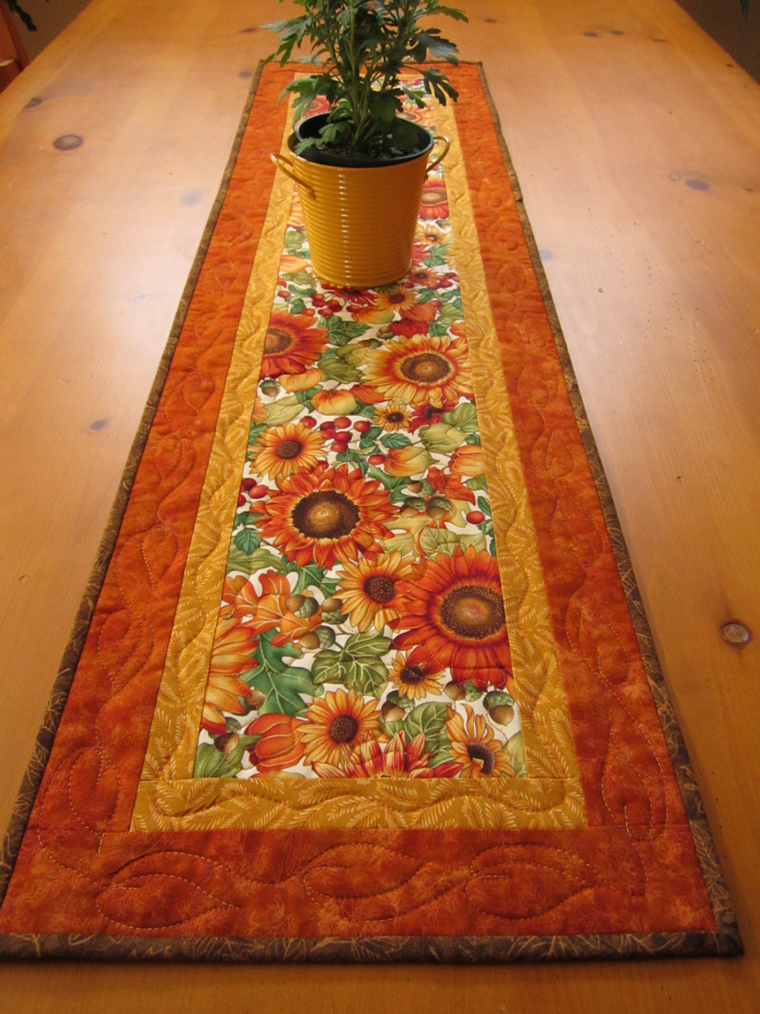 Table Runner Quilted Patchwork Mountain Handmade Quilts