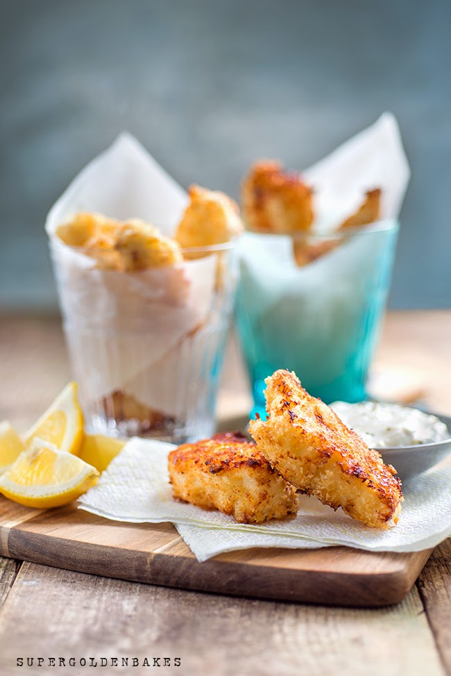 Grown up fish fingers with Tartar sauce