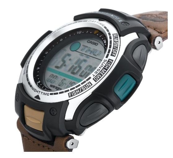 Mens womens ladies digital analog watches casio for Casio fishing watch