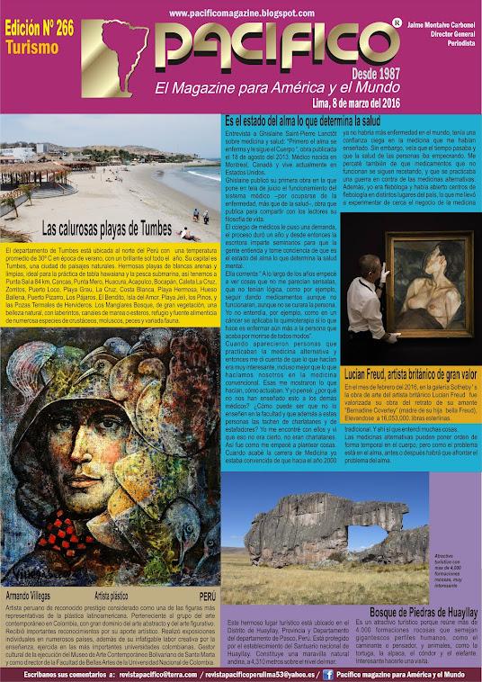Revista Pacífico Nº 266 Turismo