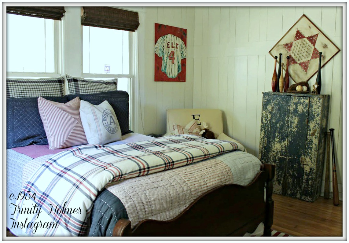 Boys Farmhouse Bedroom-From My Front Porch To Yours-How I Found My Style Sundays- c.1934 Trinity Holmes Instagram