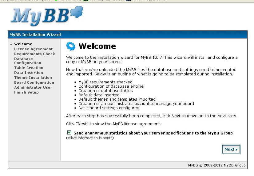 mybb,cara membuat website geratis