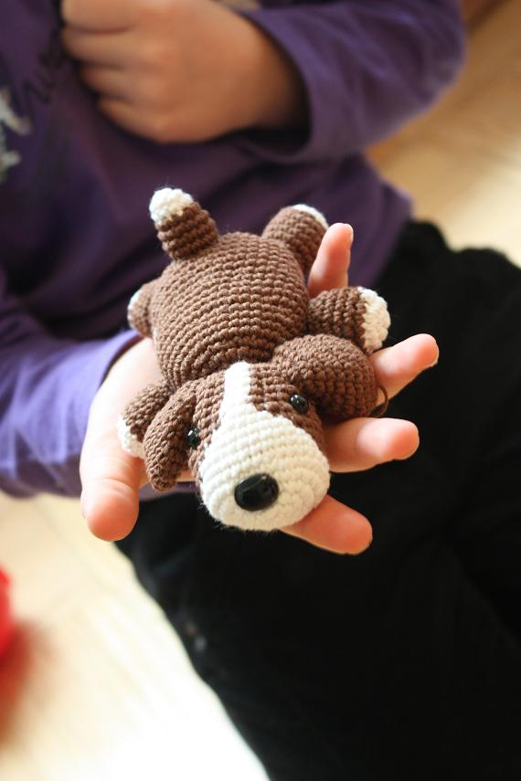Amigurumi Crochet Dog : HAPPYAMIGURUMI: Amigurumi Dog Pattern in process