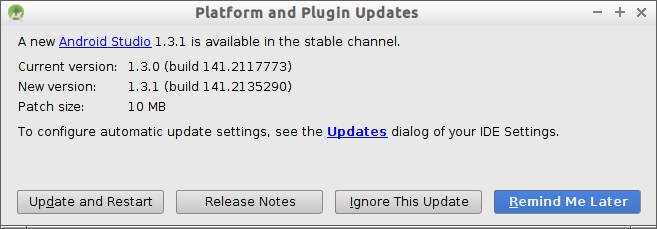 Android Studio 1.3.1 is available in the stable channel