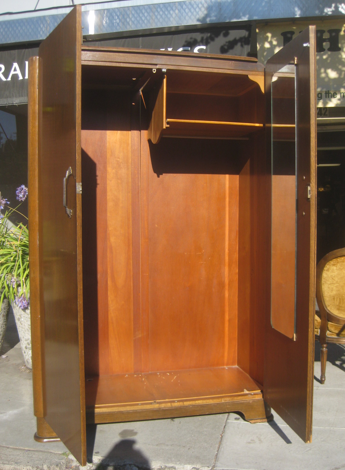 Marvelous photograph of UHURU FURNITURE & COLLECTIBLES: SOLD Clothing Armoire $175 with #A15C2A color and 1143x1556 pixels