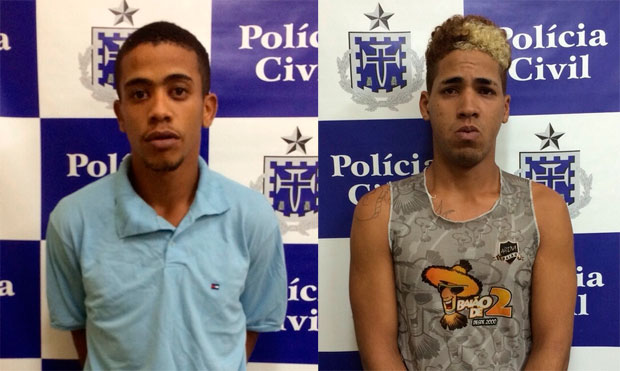 Jeferson Jesus Carvalho (esq.) e Romário Santana da Silva (dir.), acusados de matar jovem e estuprar e agredir outra em abril de 2015. (Foto: Divulgação/Polícia Civil)