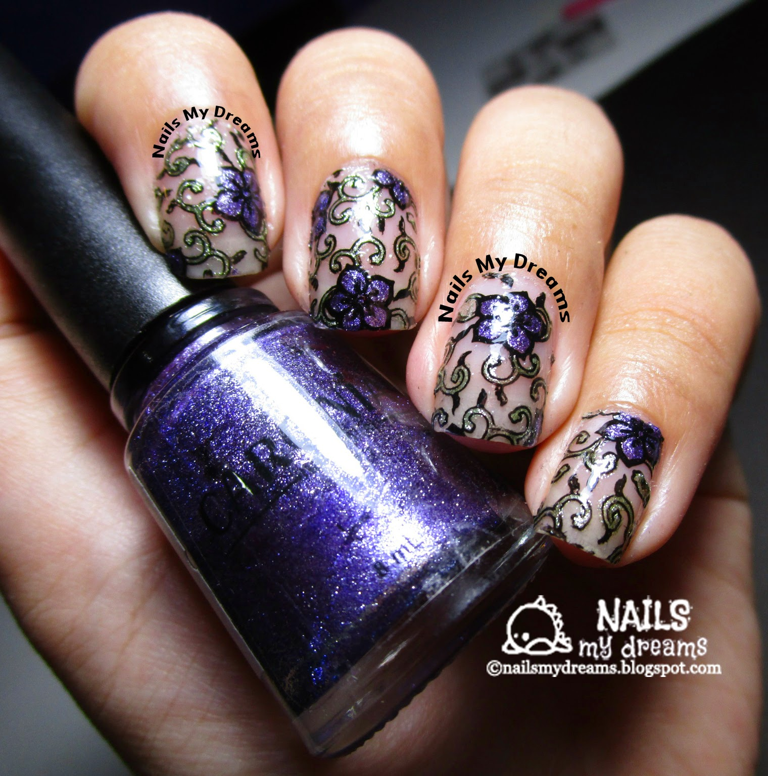 stained glass nails picture 1