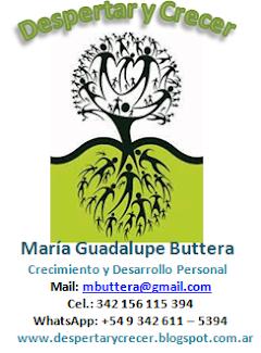 Si te interesa una consulta personal con M. G. Buttera, puedes escribir al mail: mbuttera@gmail.com
