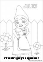 Gnomeo And Juliet Coloring Pages Free Coloring Pages