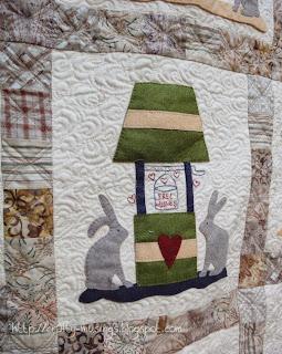 Bunny Quilt 2, block detail