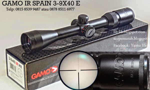 scope gamo spain reticle glass titik tengah nyala