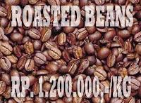 roasted beans, kopi luwak coklat
