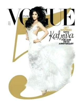 Katrina kaif on the cover page of Vogue