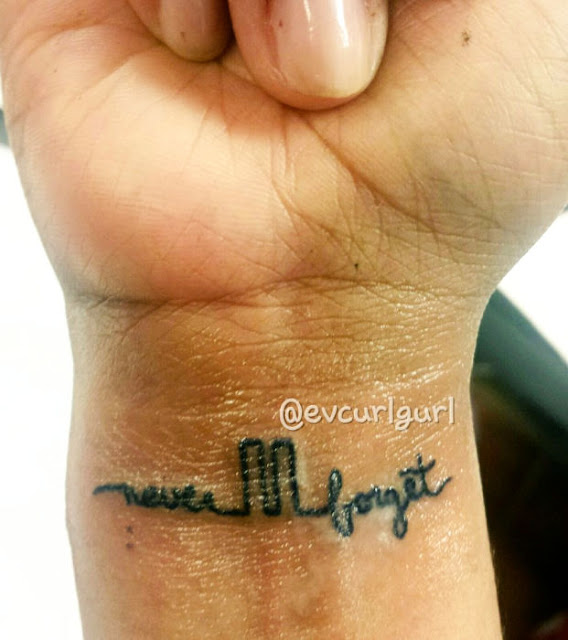 Never Forget WTC tattoo