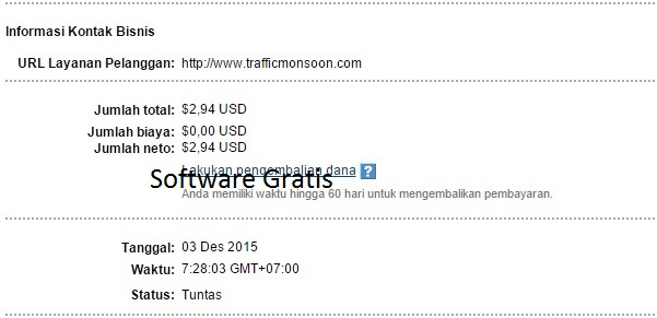 Bukti Pembayaran Kedua dari TrafficMonsoon - Download Software Gratis | Game Android Gratis ...