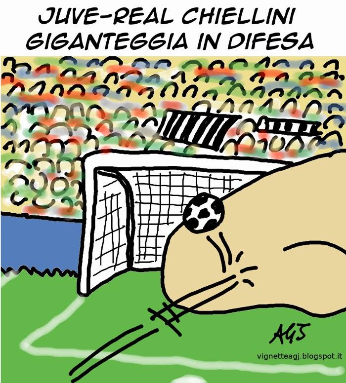 Juve, real madrid, juventus, champione league, calcio, sport, umorismo, vignetta