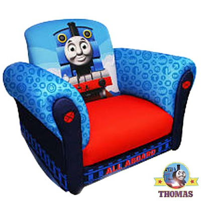 All aboard Thomas the Tank Engine Rocking Chair juniors Island of Sodor railway theme playroom chair