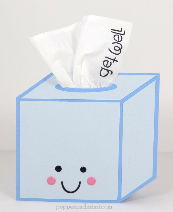 Get Well Soon tissue box card