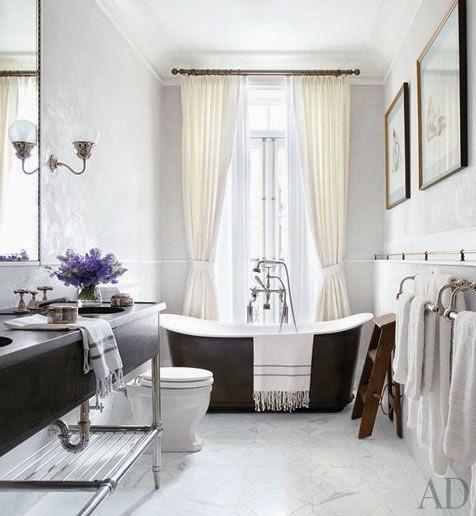 Bañeras en casa - Bañera en ventana