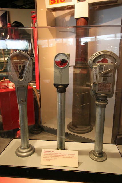 Parking meters at National Museum of American History in Washington DC, USA
