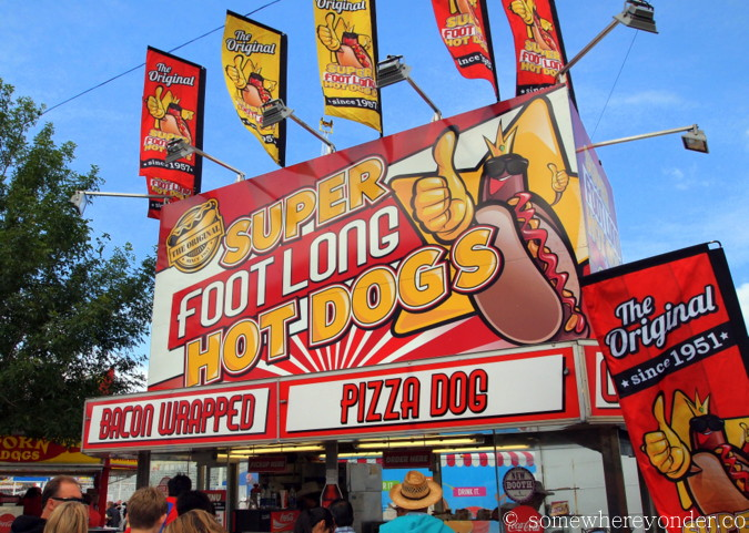Foot long hot dogs at the 2015 Calgary Stampede, Canada